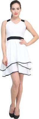 Femninora Women's A-line White Dress