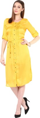 109F Women's A-line Yellow Dress