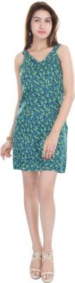 Adesa Women's A-line Green Dress