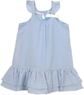 Eimoie Girl's Gathered Blue Dress