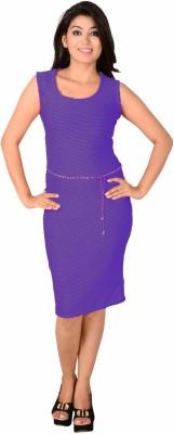 Kamakshi Krafts Women's Maxi Purple Dress