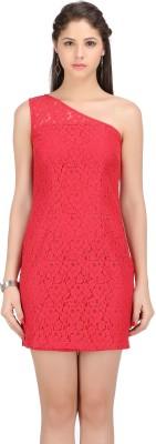 Ozel Studio Women's A-line Red Dress