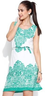 U&F Women's Shift Light Green Dress