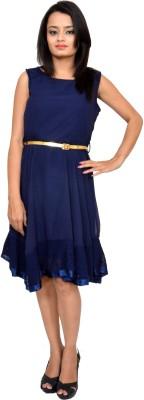 Maya Creations Women's A-line Dark Blue Dress