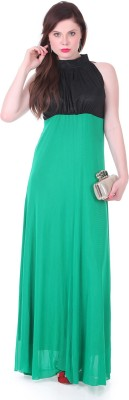 1 For Me Womens Gathered Green Dress