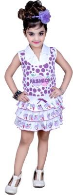 Faqira Dresses Girl's A-line Purple Dress