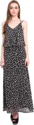 Desi Urban Women's Maxi Black Dress