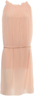 Desi Panache Women's A-line Pink Dress