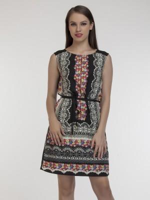 Schwof Women's Gathered Multicolor Dress