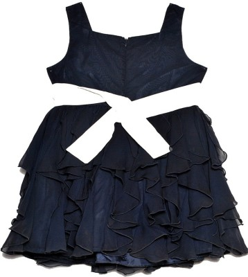 Bonnie Jean Girl's Gathered Black Dress
