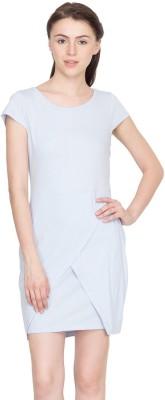 Golden Couture Women's A-line Blue Dress