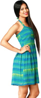 Roving Mode Women's A-line Green Dress