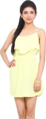 Label VR Women's Gathered Yellow Dress