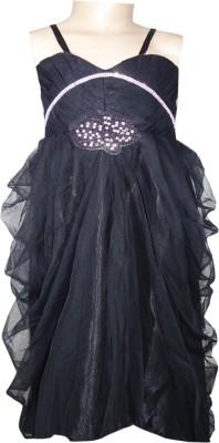 Anjan Girl's A-line Black Dress