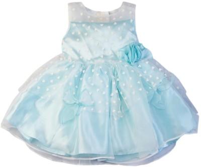Mom & Me Girl's A-line Blue Dress