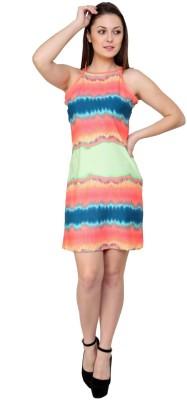 Zotw Women's Empire Waist Multicolor Dress