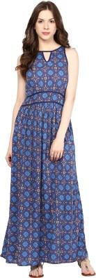 Citrine Women's Maxi Dark Blue Dress