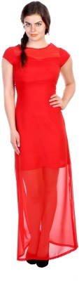 James Scot Women's Maxi Red Dress