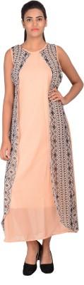Maya Apparels Women's Maxi Beige Dress