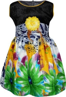 Cute Raskals Girl's Bubble Multicolor Dress
