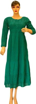 Acceptable Trading Co. Women's Gathered Green Dress