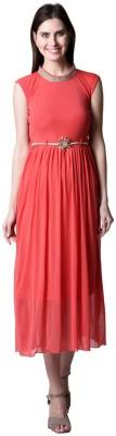 NumBrave Women's Maxi Orange Dress
