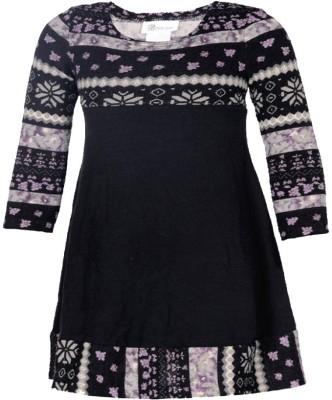 Bonnie Jean Girl's Gathered Black Dress