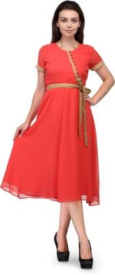 Raas Prêt Women's Empire Waist Pink, Gold Dress