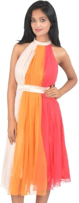 style mantra Women's Fit and Flare Multicolor Dress