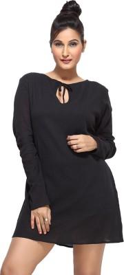 Loco En Cabeza Women's Shift Black Dress