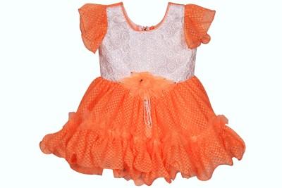 Ole Baby Girl's A-line Orange Dress
