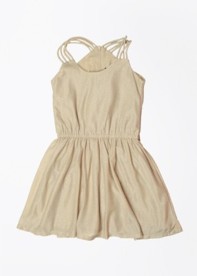 Gini & Jony Girl's Fit and Flare White Dress