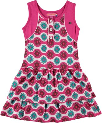 Bakery Babes Girl's A-line Pink Dress