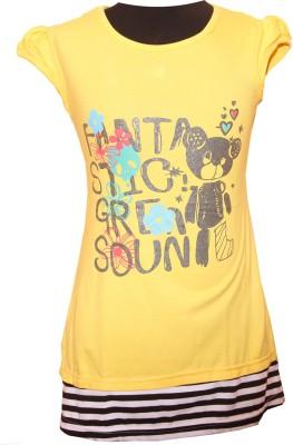 Little Star Girl's A-line Yellow Dress