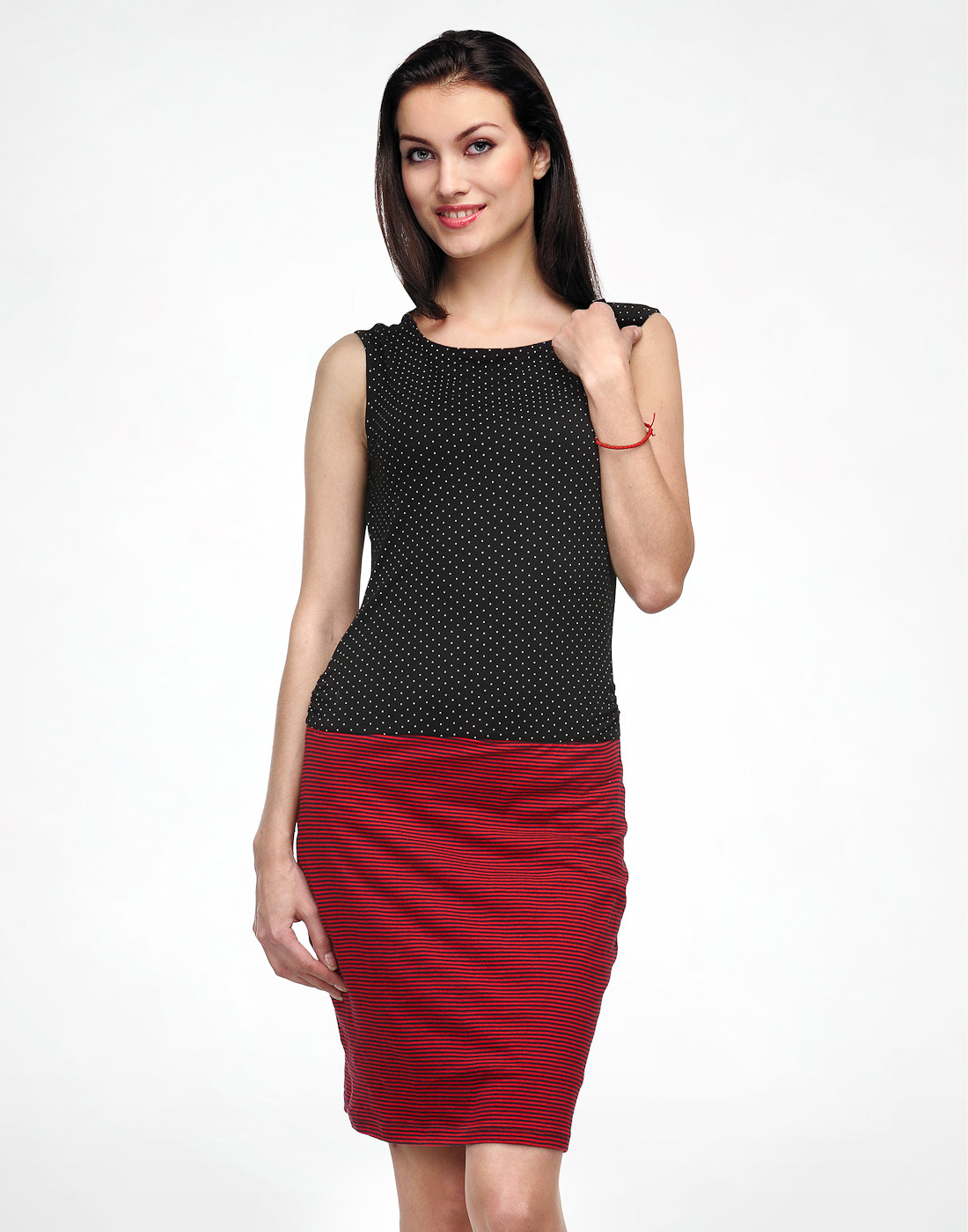 Color Cocktail Womens Black, Red Dress