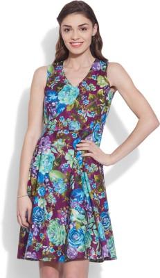 Very Me Women's A-line Purple Dress