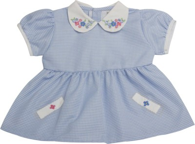 Vedvid Baby Girl's Gathered Blue Dress