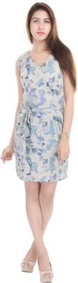 Adesa Women's A-line Blue Dress