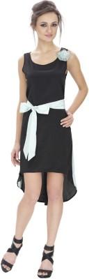 Lilium Women's High Low Black, Light Blue Dress