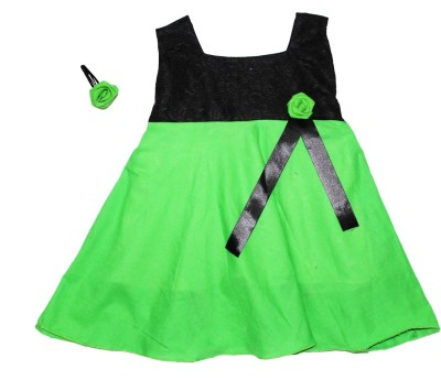 MVD Fashion Baby Girl,s Fit and Flare Green Dress