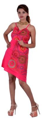 Uttam Enterprises Women's Fit and Flare Pink Dress