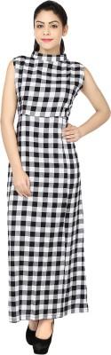 Chic Fashion Women's Maxi White, Black Dress
