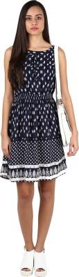 Shwetna Women's A-line Blue Dress