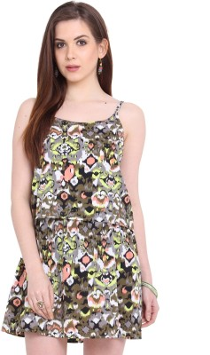 Global Colours Women's A-line Multicolor Dress