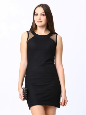ESPRESSO Women's Layered Black Dress