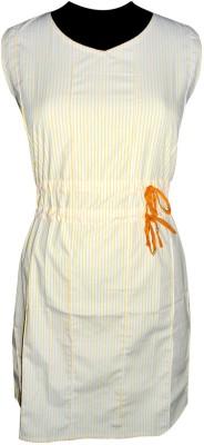 Vogue4all Women's Gathered Yellow Dress