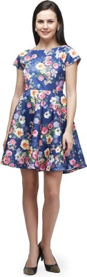 CHERYMOYA Women's Fit and Flare Multicolor Dress