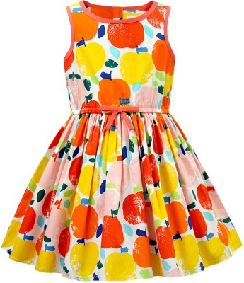 The Cranberry Club Girl's Gathered Multicolor Dress