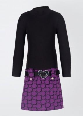 Bonnie Jean Girl's Gathered Purple Dress