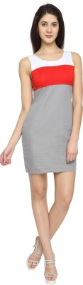 Texco Garments Women,s Gathered Multicolor Dress